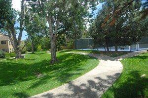 Walking paths and tennis courts at Powderhorn