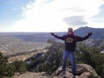 Blogger Bob Gordon atop Mount Sanitas