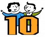 Top Ten Logo with a man and woman