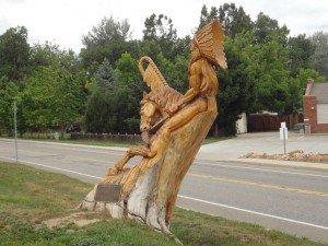 Indian tree sculpture