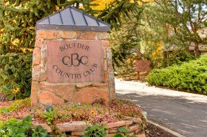 Boulders Coloado entrance to Boulder Country Club