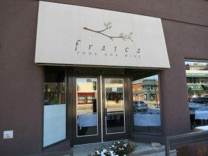 Bob Gordon Realtor looking at the Frasca restaurant