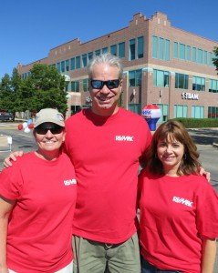 Erin Ratay Bob Gordon Jan Marose Boulder Realtors at the remax alliance recycling event in 2013