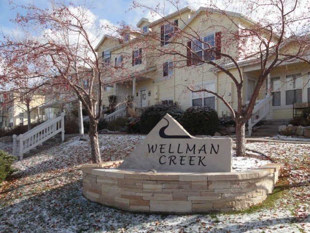 Wellman Creek town houses winter, one of the communities with permanently affordable Boulder units in Boulder Colorado
