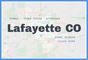 map of lafayette colorado and words click here for home search condos town house