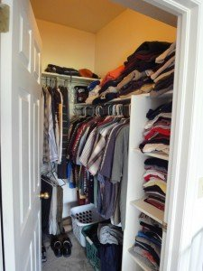 Reducing clutter in closets