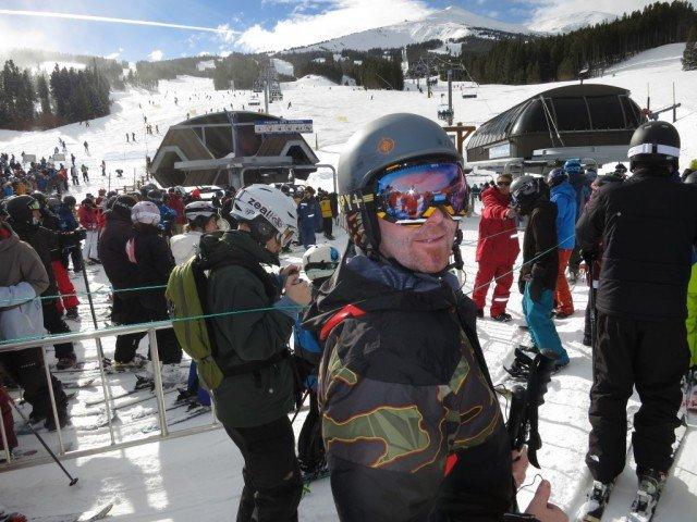 skiing Breckenridge Colorado with a buddy
