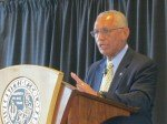 Major General Charles Bolden makes presentation on future of NASA at CU Boulder April 18, 2014