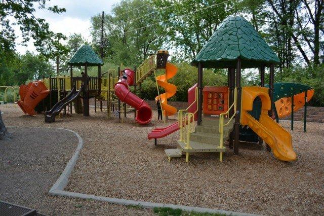 Playground at Wanaka Lake Park