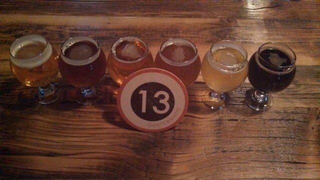 odd 13 brewery samples