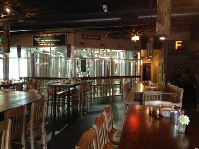 interior of the post lafayette brew pub