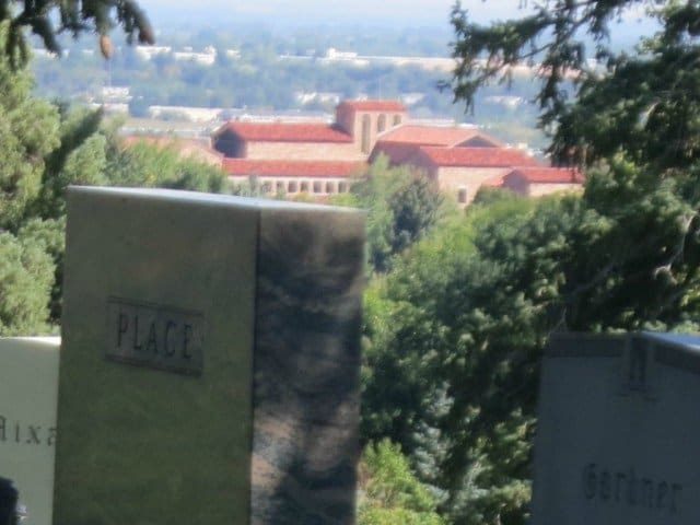 cu boulder view from memorial park
