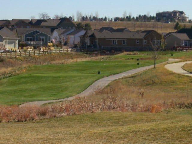golf fairway surrounded by vista ridge
