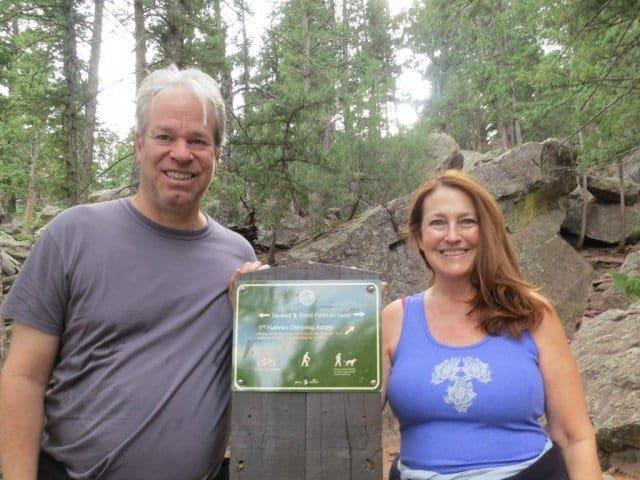 realtor bob gordon and wife on 2nd flatiron trail