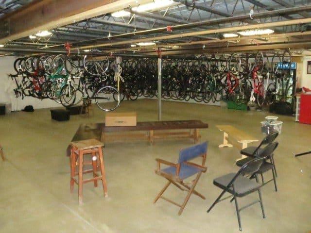 underground bike hanger
