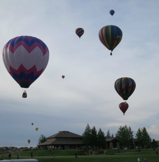 balloons coast off from the 2015 erie balloon festival launch