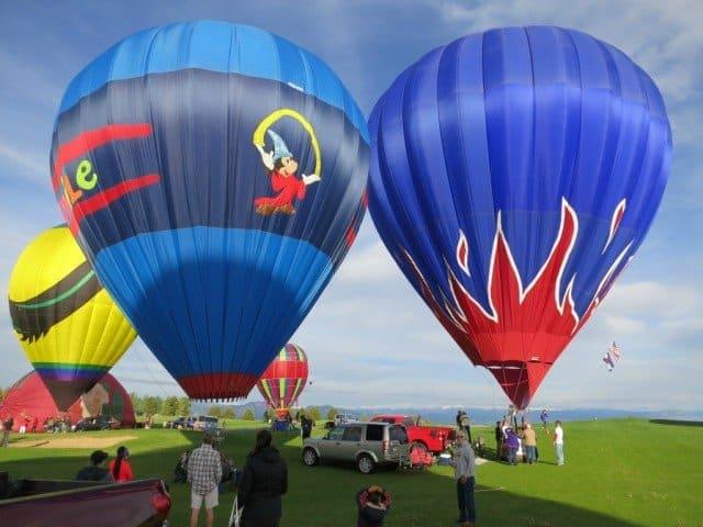 several hot air balloons boulder colorado