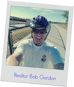 bob gordon flagstaff bouldere realtor on a bike