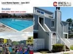 boulder local market update with pictures of pool, crowd and a townhouse
