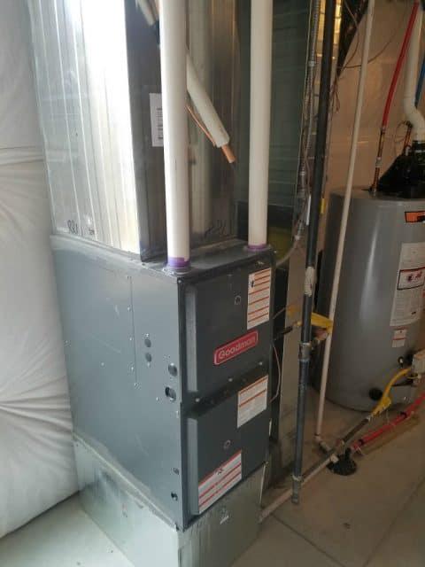 furnace for house in basement of realtor bob gordon home