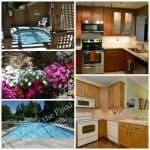 collage swimming pool, flowers, hot tub and two beautiful kitchens