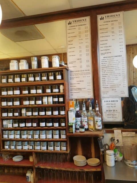 trident cafe cappuccino menu and barista bar