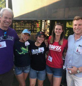 bob gordon and 4 ohio wesleyan univeristy alumni
