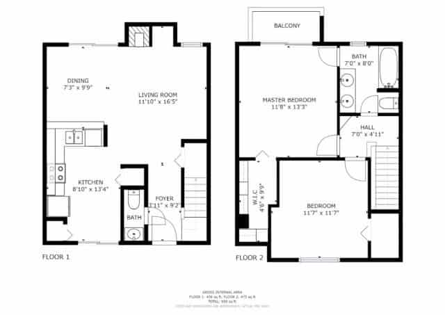 floor plans for first and second floor of 2006 sunridge circle