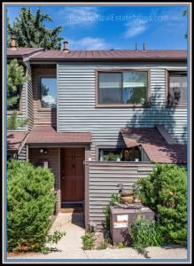 exerior and front door of 350 arapahoe ave 23 boulder colorado a two story townhouse