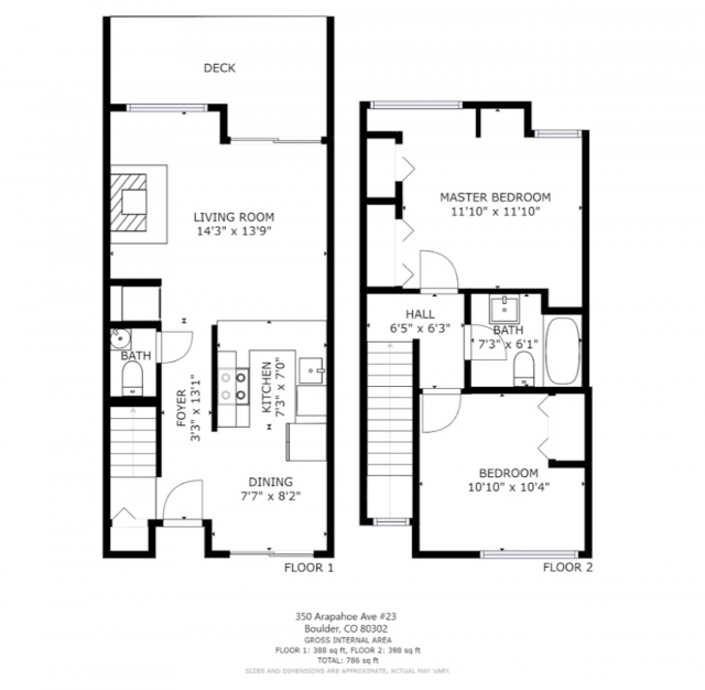 floor plan for 350 arapahoe ave 23