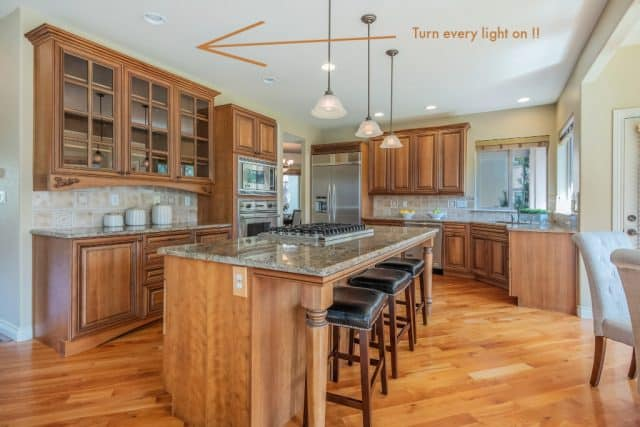 turn every light on kitchen picture