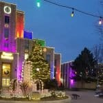 downtown boulder holiday lights january 2020