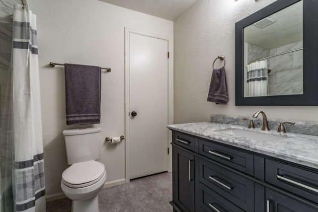 remodeled bathroom in house 7171 s franklin centennial co
