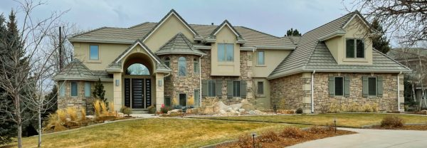 gorgeous stucco and stone mansion in louisville colorado