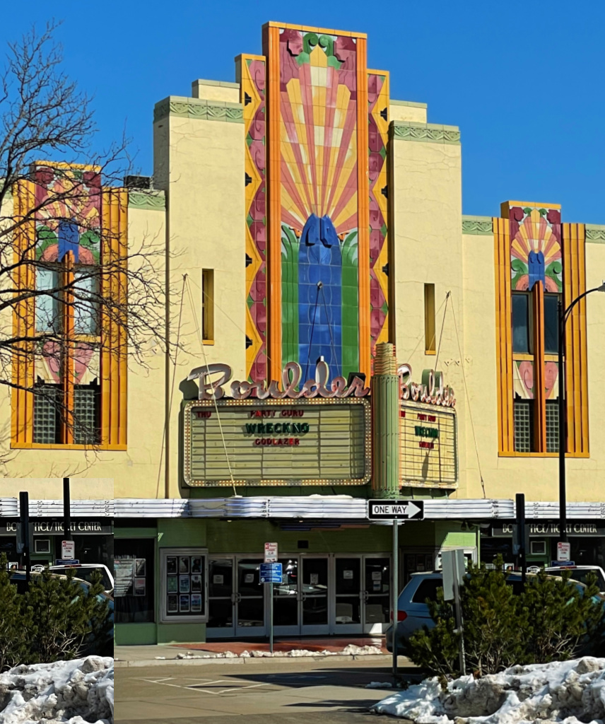 boulder theater in whittier neighborhood boulder colorado front facade is classic