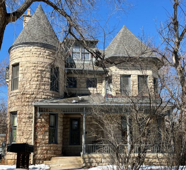 whittier historic home of stone with a turret on one side looks like a castle